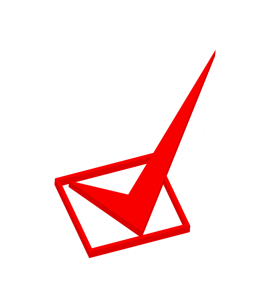 Check mark Red PNG